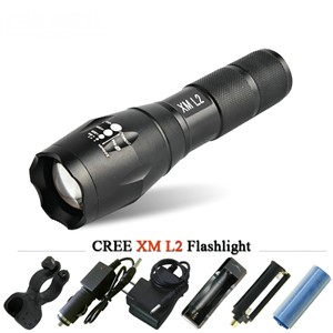 powerful led flashlight cree torch zoom xm l2 xml t6 LED 10w waterproof zaklamp lanterna light linternas USE 18650 bick lamp