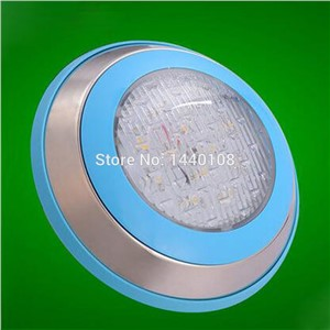 5pcs/lot 2016 New led round swimming spot lamp warm white white RGB 6W 12V LED Underwater Landscape Lamp Swimming Pool Wall Lamp