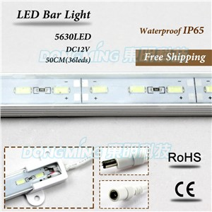 50cm LED light bar Waterproof white/warm white luces light bars 5630 U Aluminium groove LED Bar Light
