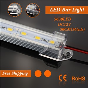 LED luces Strip 36leds/0.5m led Bar Light 5630 SMD with Aluminium Alloy Shell +PC Cover kitchen led under cabinet light