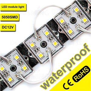 500pcs/lot LED Modules 4leds SMD5050 Waterproof IP65 DC12V Iron cover for billboards neon signs windows light boxes