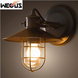 Creative American Loft retro industrial wall lamp outdoor balcony bedroom bedside corridor stair pub cafe wall lamp sconce bra