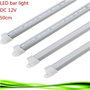 100X 50CM DC 12V 36 SMD 5630 LED Tube Hard Rigid LED Strip Bar Light with U Aluminium shell +pc cover warm/white led bulb lam
