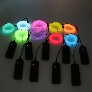 2M EL Wire Tube Rope Battery Powered controller Flexible Neon Cold Light Car Party Wedding Decor