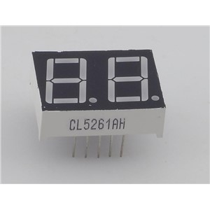 "0.56"" inch two digital tube, common cathode 7 segment red led display 2  digits"