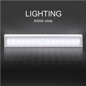 [DBF]3pcs 14leds Rechargeable PIR Motion Sensor LED Night Light Lamp With For Hallway Pathway Staircase Magnetic Wall Lighting