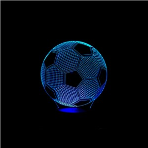 3D football soccer LED home decoration Kid Sleep Lamp Touch Sensor  Night Light Soccer Madrid Fans Gift 7 Color Chang Light Lamp