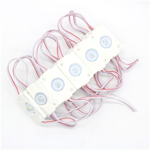 100pcs 2835 Module Injection 1leds M Waterproof Circular Lens White PCB 1.5W 12V DC
