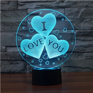 Magical Optical Illusion 3D LED I Love You Night Light USB Table Lamp Atmosphere Light with Touch Switch Valentine's Day  Gift
