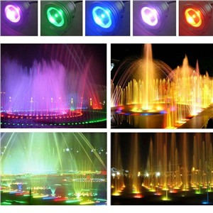 Remote Control 10w 12v Water Resistant RGB LED Underwater Light Lamp for Landscape Fountain Pond Lighting --M25