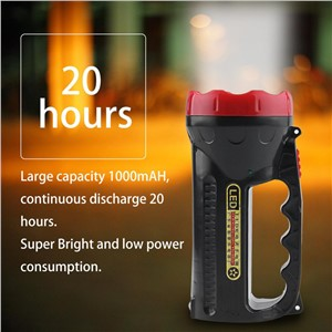LED Flashlight Outdoor Camping Hiking Super Bright Charging Portable Light Torch Light Nine Lamp Head 1000mAH Top Sale