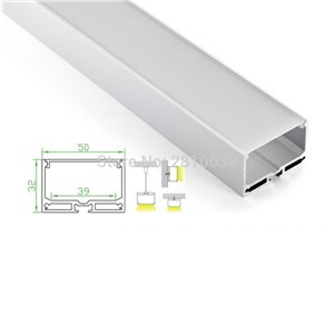 10 Sets/Lot U type Anodized LED aluminum profile Extruded Aluminium led profile LED aluminum Channel profile for wall or ceiling