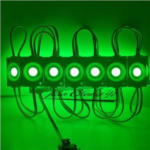 200PCS/lot 2.4W injection COB LED Module light,DC 12V advertising light Red Green blue yellow white  3 years warranty