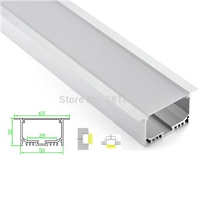 10 Sets/Lot T type Anodized LED aluminum profile Extruded Aluminium led profile LED aluminum Channel profile for wall or ceiling