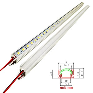 LED Hard luces Strip Bar Light Aluminium profile 1meter 5730 8520 2835 5050 4014 chip DC12V with pc cover cabinet kitchen