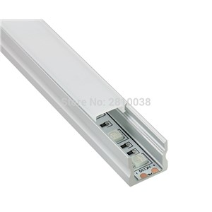10 Sets/Lot Square AL6063 Aluminium led profile Led extrusion profile Led aluminum profile for led strips recessed wall lights
