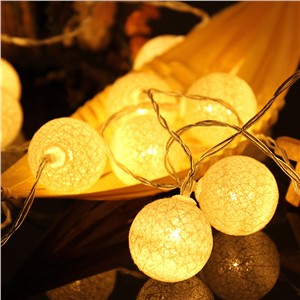2.3M 20LED Cotton Ball String Lights Party Wedding Christmas Decor Lights