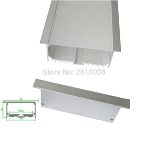 10 X 1M Sets/Lot T style Anodized LED aluminium profile Extruded Aluminum led extrusion lighting for ceiling or wall lights