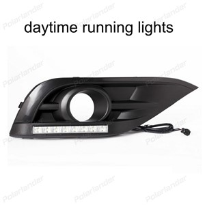 Led day running lights Front fog lamp DRL with turn amber light function for H/onda C/RV 2012-2015 2pcs/1set waterproof