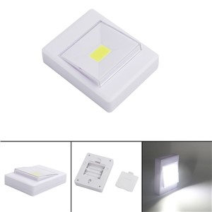 2PCS Magnetic Mini COB LED Wall Light Night Lights Camp Lamp Battery Operated with Switch Magic Tape for Garage Closet