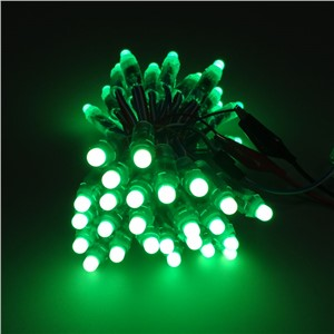 Mokungit 500pcs 5V 12V Green Wire WS2811 WS2801 IC led round pixel advertising module String 12mm Digital Waterproof IP68
