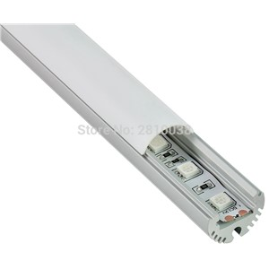 10 X 2M Sets/Lot Round AL6063 Anodized Led aluminum profile with semiclear and Led channel profile for pendant lights