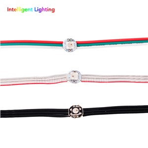 Wholesale 50pcs/100pcs WS2812B 5050 RGB Addressable LED Module Black/Crystal Wire/Red&Green&White Wire