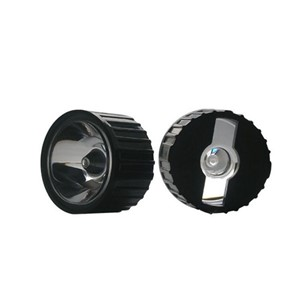 100pcs/lot 20mm 60 Degree Clear LED Lens + 22mm Black holder for 1W 3W 5W LED Light Lamp