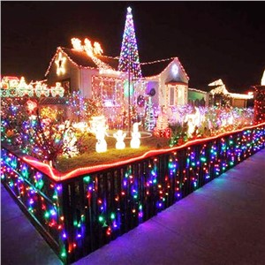 High Quality AC 85-240V 50M 100M Waterproof Colorful LED String Lights Strip Fairy Lamp Decoration Bulb for Christmas Holiday