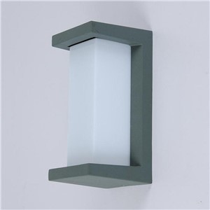 Waterproof Rectangle Aluminum PC Led 10w Wall Lamp For Outdoor/indoor Deco Durable Simple Porch Light 1457