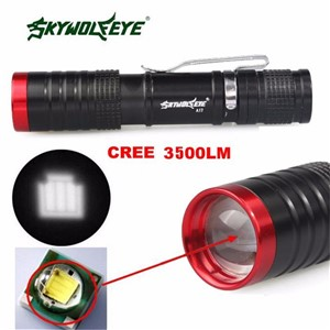 2017 New 3500 Lumens 3 Modes CREE XML XPE LED Flashlight Torch Lamp Light Outdoor Wholesales NOM10
