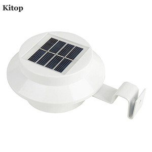 Kitop Solar led light 3 leds IP44 waterproof for fence Gardens Lawn White warm white outdoor Garden Street  fence night lighting