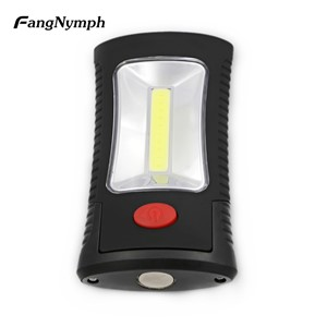 COB LED + 3 LED Work Flashlight Magnet Suspension Outdoor Camping Light Home Emergency Lighting