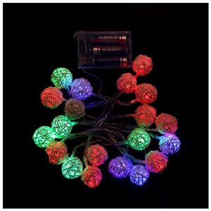 1pcs 20 Bulbs LED String Rattan ball Balls Lights Brown Coffee Christmas Home Decoration Wedding Curtain ,2color
