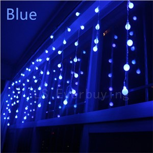 AC 220V Christmas Lights Outdoor 3.5m Droop Ball curtain icicle string LED String Lights New year Garden Xmas Wedding  Decor