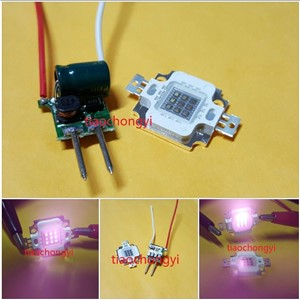 10pcs 10W IR 940nm High Power LED Chip + 10pcs MR16 3x3 driver 3-12V 600MA