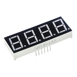 0.56inch 4bit Common Cathode Digital Tube Red LED Digit Display 7 Segment 0.5inch 0.5 0.56 Inch 0.56'' 0.56in. 4 Four Bit