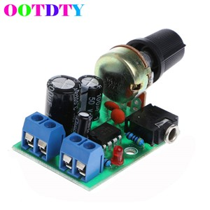 Mini Audio Power Amplifier Module Board DC 3V~12V 5V Module Adjustable Volume LM386