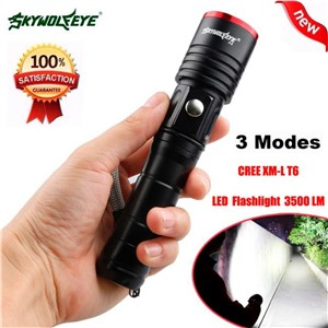 3500LM 3 Modes CREE XML T6 LED AA/18650 Battery Flashlight Torch Lamp NOJ06