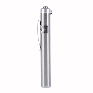 Mini LED Stainless Steel Torch Lens Flashlight Round Moon Light Outdoor Camp Lamp Small Flashlight Hard Light