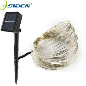 OSIDEN 10M 100LED Solar Powered String Lights Copper Wire Outdoor Fairy Light for Christmas Garden Home Holiday Decorations