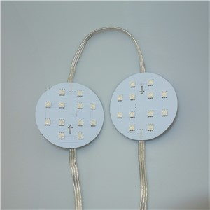RGB full color UCS1903 IC controlled 5050 LED pixel panel;DC24V;65mm diameter;12Leds;20pcs a string with clear wire