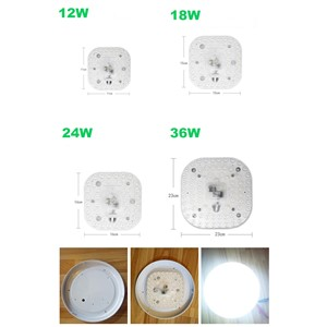 LED Module light with Replace Ceiling Lamp Source 12W 18W 24W 36W AC175-265 For Bedroom Living Room 2pcs Panel light
