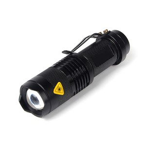 Mini LED Flashlight ZOOM 7W CREE 2000LM Waterproof Lanterna LED 3Modes Zoomable Torch 3.7V AA 14500 battery Flashlight P0.2