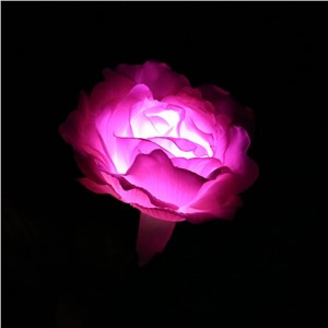 Rose Flower Solar Power LED Light Waterproof Outdoor Garden Yard Lawn Landscape Balcony Decorative Lamp Energy-saving