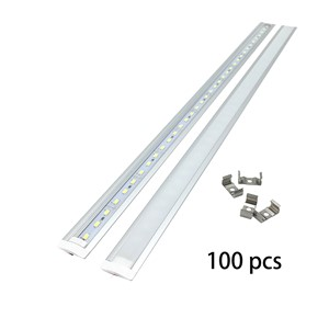 Hamrvl New Embedded strip 100PCS/Lot 100CM inserted Rigid Strip 5730 LED BarLight DC 12V  u/v/yw style shaped Aluminum