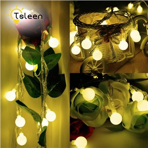 TSLEEN 2PCS Solar Powered LED Fairy String Light 7m 5OLeds Wedding Christmas Party Decoration Outdoor Garland Warmwhite Colorful