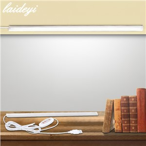 LAIDEYI LED Bar Lights Strip 3 Colors 5V Portable Hard LED Strip Lamp With Switch Night Light School Reading Book Lighting