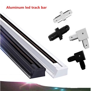 10PCS DHL 1m LED track light rail connector led rail strip aluminum engineering clothing store track spotlights dedicated