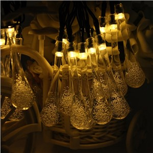 480CM Solar Powered 20 LED String Light Icicle Lights Raindrop String LED Fairy Lights For Outdoor Lighting Decoration